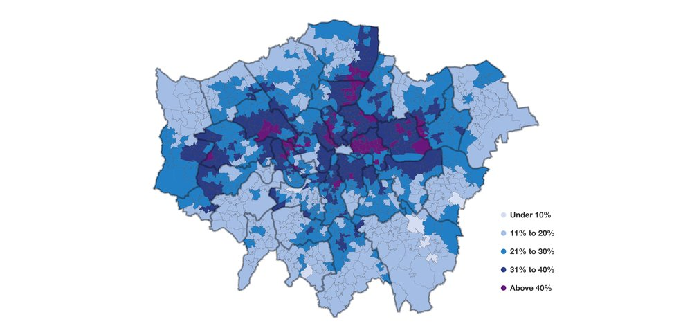 Low income across London