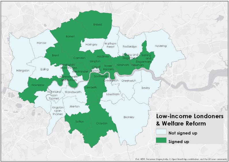 Low- income Londoners and welfare reform