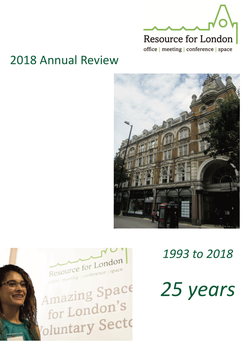 Resource for London annual review cover