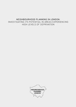 Neighbourhood Planning London cover