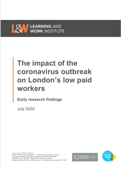 The Impact of Coronavirus on London's Low Paid Workers cover