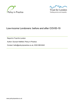 Low-income Londoners: Before and after COVID-19 cover