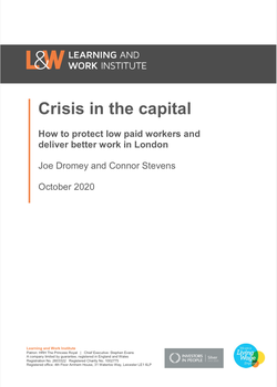 Crisis in the Capital report cover, Oct 2020