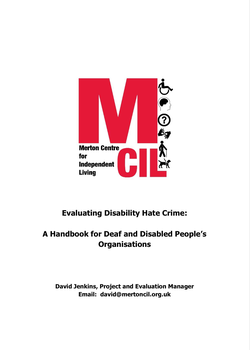 Evaluating Disability Hate Crime Handbook cover