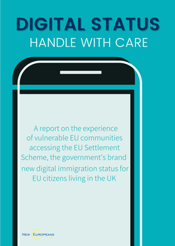 Digital Status, Handle with care, New Europeans report cover